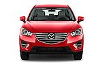 Car photography straight front view of a2016 Mazda CX5 Premium Edition 5 Door SUV Front View