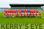 The East Kerry team before the Kerry County Senior Football Championship Semi-Final match between East Kerry and St Brendan's at Austin Stack Park in Tralee, Kerry.