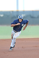 Trent Clark (2) of the AZL Brewers runs the bases during a game against the AZL Reds at the Cincinnati Reds Spring Training Complex on July 5, 2015 in Goodyear, Arizona. Reds defeated Brewers, 9-4. (Larry Goren/Four Seam Images)