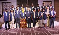 Mr Cassam Uteem<br /> Declaration Preliminaire de le mission D'observation electorale D'EISA pour L'election Presidentielle Du 15 Septembre en republique Tunisienne<br /> PHOTO : Agence Quebec Presse -  JDIDI_WASSIM