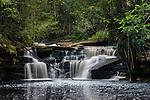 The upper tier of Giluk Falls, edge of southern plateau. Maliau Basin - Sabah's 'Lost World' - Borneo.