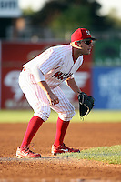 August 28th, 2007:  Andrew Brown of the Batavia Muckdogs, Short-Season Class-A affiliate of the St. Louis Cardinals at Dwyer Stadium in Batavia, NY.  Photo by:  Mike Janes/Four Seam Images