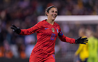 COLUMBUS, OH - NOVEMBER 07: Carli Lloyd #10 of the United States celebrates during a game between Sweden and USWNT at Mapfre Stadium on November 07, 2019 in Columbus, Ohio.