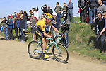 Bram Tankink (NED) Team Lotto NL-Jumbo tackles Sector 25 Quievy to Saint-Python during the 113th edition of the Paris-Roubaix 2015 cycle race held over the cobbled roads of Northern France. 12th April 2015.<br /> Photo: Eoin Clarke www.newsfile.ie