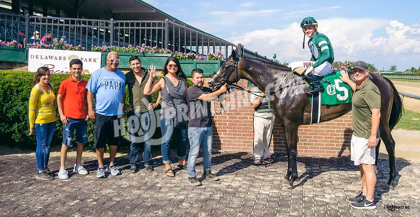 Monkey Mind winning at Delaware Park on 8/8/19