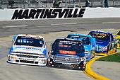 NASCAR Camping World Truck Series<br /> Alpha Energy Solutions 250<br /> Martinsville Speedway, Martinsville, VA USA<br /> Saturday 1 April 2017<br /> Johnny Sauter, Christopher Bell<br /> World Copyright: Logan Whitton/LAT Images<br /> ref: Digital Image 17MART1LW1733
