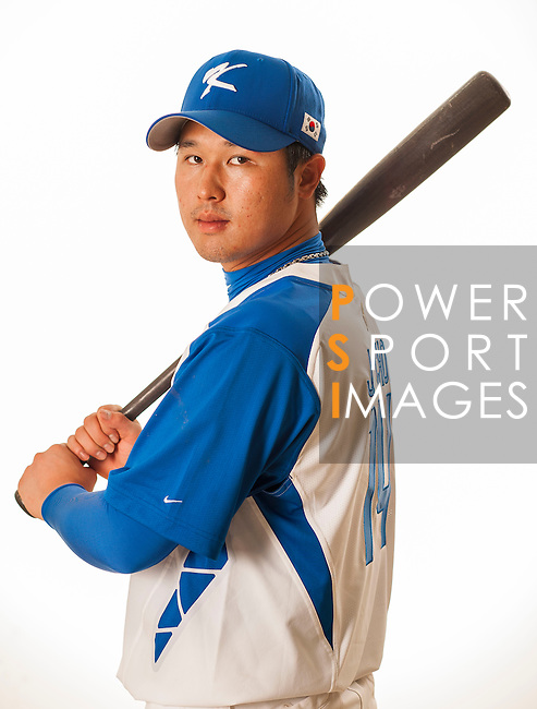 TAICHUNG, TAIWAN - FEBRUARY 27: Choi Jeong of Team Korea poses during WBC Photo Day at the Douliu Baseball Stadium on February 27, 2013 in Douliu, Taiwan. Photo by Victor Fraile / The Power of Sport Images