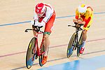 Mikhail Shemetau of the Belarus team competes against Rubio V Garcia de Mateos of the Spain team in the Men's Individual Pursuit - Qualifying as part of the 2017 UCI Track Cycling World Championships on 14 April 2017, in Hong Kong Velodrome, Hong Kong, China. Photo by Marcio Rodrigo Machado / Power Sport Images