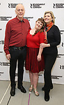 """Mark Blum, Jamie Brewer and Debra Monk attends the Meet & Greet for the cast of """"Amy and the Orphans"""" at the Roundabout Theatre rehearsal hall on January 10, 2018 in New York City."""