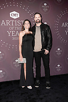 Walker Hayes, Laney Beville Hayes attend the 2021 CMT Artist of the Year on October 13, 2021 in Nashville, Tennessee. Photo: Ed Rode/imageSPACE/MediaPunch