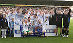 St Johnstone v Morton....02.05.09.Alan Main and Kevin Rutkiewicz at the lift the first division trophy with their team mates.Picture by Graeme Hart..Copyright Perthshire Picture Agency.Tel: 01738 623350  Mobile: 07990 594431