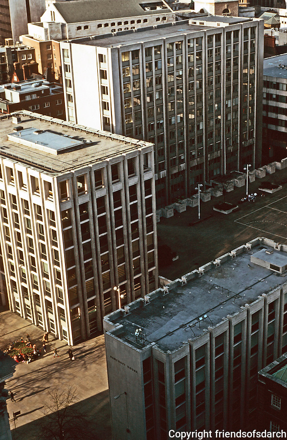 London:  10.  Panoramic View from St. Paul's.  Paternoster Square.  Photo '90.