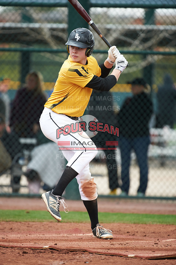 Daniel Erwin (2) of Lewis And Clark High School in Spokane, Washington during the Under Armour All-American Pre-Season Tournament presented by Baseball Factory on January 15, 2017 at Sloan Park in Mesa, Arizona.  (Art Foxall/MJP/Four Seam Images)