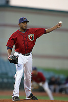 August 16 2009: Fernando Abad of the Lancaster JetHawks during game against the Bakersfield Blaze at Clear Channel Stadium in Lancaster,CA.  Photo by Larry Goren/Four Seam Images
