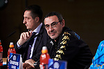 Napoles'es coach Maurizio Sarri during the press conference before Champions League Match between Real Madrid and Napoles at Santiago Bernabeu Stadium in Spain. February 14, 2017. (ALTERPHOTOS/Rodrigo Jimenez)