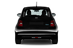Straight rear view of 2021 Fiat 500 Icon 3 Door Hatchback Rear View  stock images