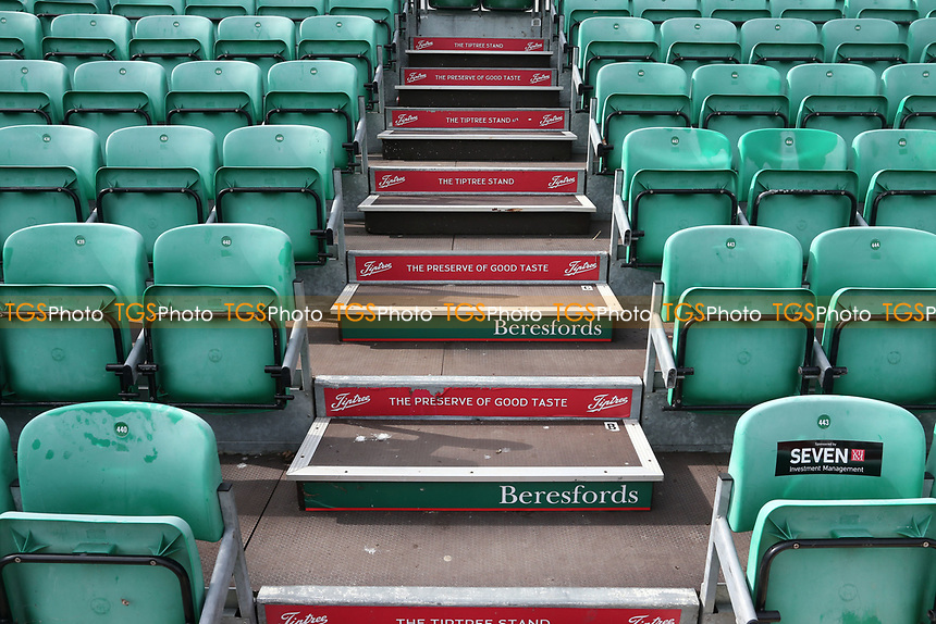 General view of empty seats ahead of Essex CCC vs Nottinghamshire CCC, LV Insurance County Championship Group 1 Cricket at The Cloudfm County Ground on 6th June 2021