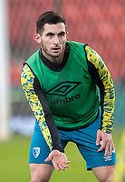 2nd January 2021; Bet365 Stadium, Stoke, Staffordshire, England; English Football League Championship Football, Stoke City versus Bournemouth; Lewis Cook of Bournemouth during warm up
