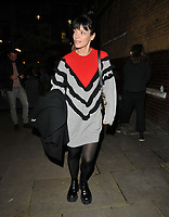 """Lily Allen at the """"2:22 - A Ghost Story"""" evening perfoormance theatre departures, Noel Coward Theatre, St Martin's Lane, on Friday 08th October 2021 in London, England, UK. <br /> CAP/CAN<br /> ©CAN/Capital Pictures"""