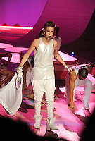 NON EXCLUSIVE PICTURE: MATRIXPICTURES.CO.UK.PLEASE CREDIT ALL USES..UK RIGHTS ONLY..American pop singer Justin Bieber is pictured performing a concert on the runway during the 2012 Victoria's Secret lingerie fashion show, held at New York's Lexington Avenue Armory. ..NOVEMBER 7th 2012..REF: GLK 125134 /NortePhoto