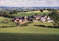 Wales, Offa's Dyke Footpath.  Farm near Pandy, Monmouthshire.
