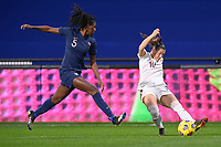 Swiss Ramona Bachmann (10) and French Aissatou Tounkara (5) pictured during the 2nd Womens International Friendly game between France and Switzerland at Stade Saint-Symphorien in Longeville-lès-Metz, France.