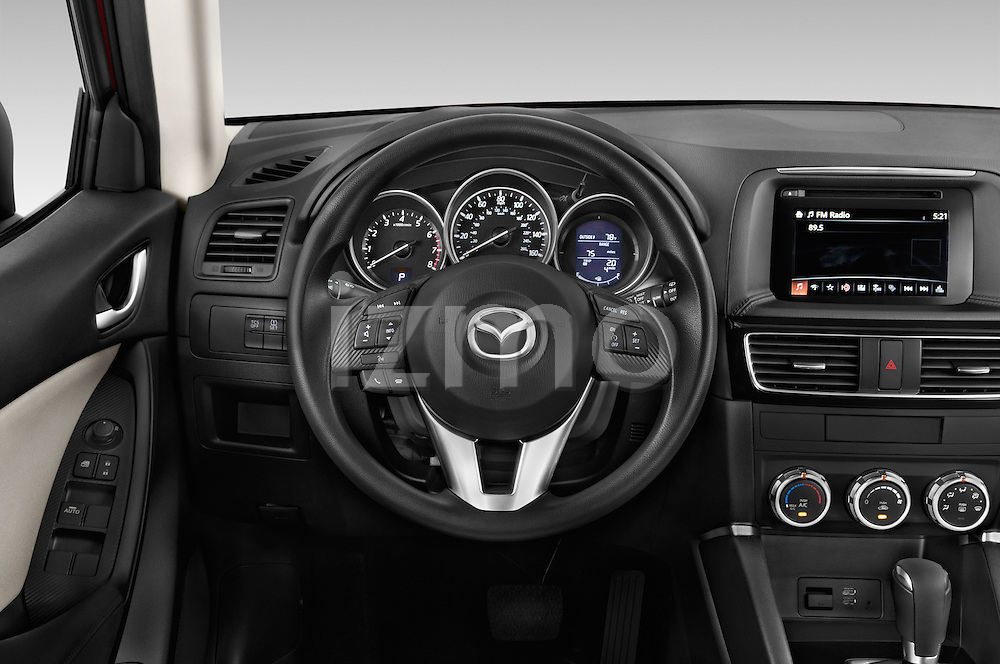 Car pictures of steering wheel view of a2016 Mazda CX5 Premium Edition 5 Door SUV Steering Wheel