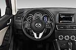 Car pictures of steering wheel view of a2016 Mazda CX5 Premium Edition 5 Door SUV Steering Wheel
