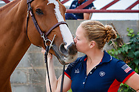 USA-Laura Kraut's Hera FBH is presented for the Horse Inspection. 2021 ESP-Longines FEI Jumping Nations Cup Final. Real Club de Polo, Barcelona. Spain. Thursday 30 September 2021. Copyright Photo: Libby Law Photography