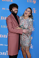 """LOS ANGELES - JUN 10:  Dave Burd and Taylor Misiak at the """"Dave"""" Season Two Premiere Screening at the Greek Theater on June 10, 2021 in Los Angeles, CA"""