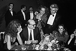 """STELLA PENDE, BETTINO CRAXI, MATILDE BERNABEI E RAFFAELLA CURIEL<br /> MOSTRA """"L'ATELIER DELLE ILLUSIONI"""" DI VALENTINO GARAVANI - CASTELLO SFORZESCO MILANO 1985"""