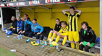 20160417 - WESTERLO , BELGIUM : Lierse's players waiting for the final whistle pictured during the final of Belgian cup 2016 , a soccer women game between SK Lierse Dames and RSC Anderlecht  , in stadion Het Kuipje Westerlo , sunday 17 th April 2016 . PHOTO SPORTPIX.BE / DIRK VUYLSTEKE