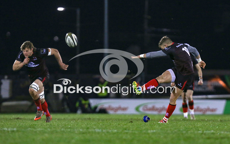 27th December 2020 | Connacht  vs Ulster <br /> <br /> Ian Madigan put Ulster in front during the Guinness PRO14 match between Connacht and Ulster at The Sportsground in Galway.. Photo by John Dickson/Dicksondigital