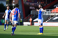Adam Armstrong of Blackburn Rovers right celebrates scoring to make the score 2-2  during AFC Bournemouth vs Blackburn Rovers, Sky Bet EFL Championship Football at the Vitality Stadium on 12th September 2020