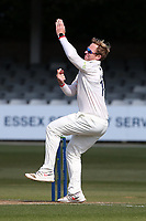 Simon Harmer in bowling action for Essex during Essex CCC vs Durham CCC, LV Insurance County Championship Group 1 Cricket at The Cloudfm County Ground on 16th April 2021
