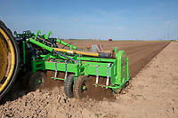 Cultivating & applying Nemathorin for potatoes with  GPS autosteer - Lincolshire, April