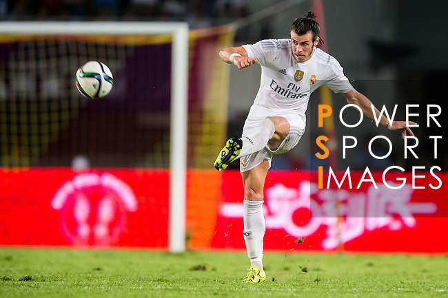 Gareth Bale of Real Madrid CF in action during the FC Internazionale Milano vs Real Madrid  as part of the International Champions Cup 2015 at the Tianhe Sports Centre on 27 July 2015 in Guangzhou, China. Photo by Aitor Alcalde / Power Sport Images
