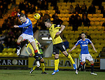 Andy Halliday rises for a header