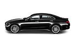 Car Driver side profile view of a 2022 Mercedes Benz CLS-Coupe AMG-Line 4 Door Sedan Side View