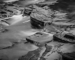 Detail of Manido Falls in the Porcupine Mountains State Park in the UP of Michigan