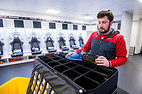 Kitman<br /> Re: Behind the Scenes Photographs at the Liberty Stadium ahead of and during the Premier League match between Swansea City and Bournemouth at the Liberty Stadium, Swansea, Wales, UK. Saturday 25 November 2017