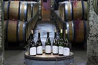 barrel aging cellar bottles for tasting dom rossignol trapet gevrey-chambertin cote de nuits burgundy france