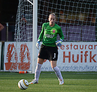 20140606 - Koksijde , BELGIUM : Twente's Sari Van Veenendaal pictured during the soccer match between the women teams of Club Brugge Vrouwen  and FC Twente Vrouwen  , on the 30th matchday of the BeNeleague competition on Friday 6th June 2014 in Koksijde .  PHOTO DAVID CATRY