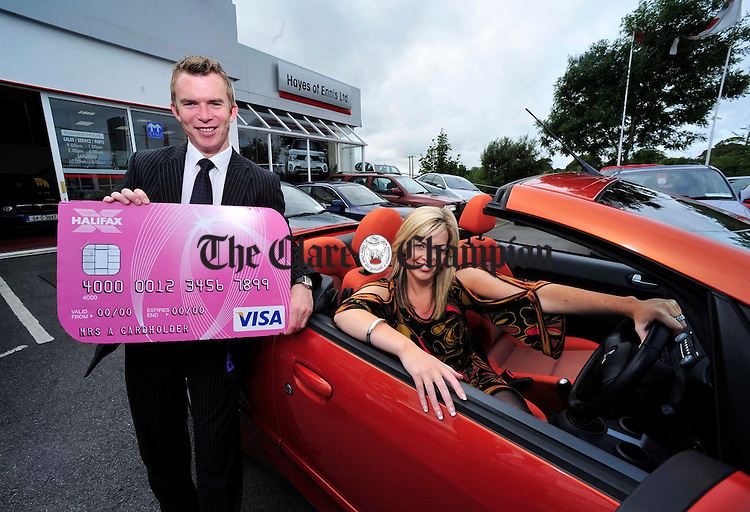 Paul Madden of Ennis Fashion Week pictured with Bernie Garry, winner of the Ennis Style and Glamour Award 2007 at the launch of Ennis Fashion Week. Photograph by Declan Monaghan