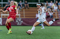 NEWTON, MA - AUGUST 29: Gaby Carreiro #7 of Boston College takes a shot during a game between Boston University and Boston College at Newton Campus Field on August 29, 2019 in Newton, Massachusetts.