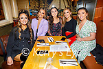 Zoe O'Carroll, Victoria Murphy, Roisin Stack, Emily Quirke and Blathnaid O'Connor enjoying the evening in the Mall Tavern on Saturday.