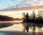 Artichoke Reservoir in West Newbury, Massachusetts, USA