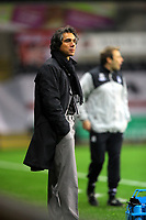 ATTENTION SPORTS PICTURE DESK<br /> Pictured: Paulo Sousa Manager of Swansea City <br /> Re: Coca Cola Championship, Swansea City Football Club v Nottingham Forest at the Liberty Stadium, Swansea, south Wales. Saturday 12 December 2009