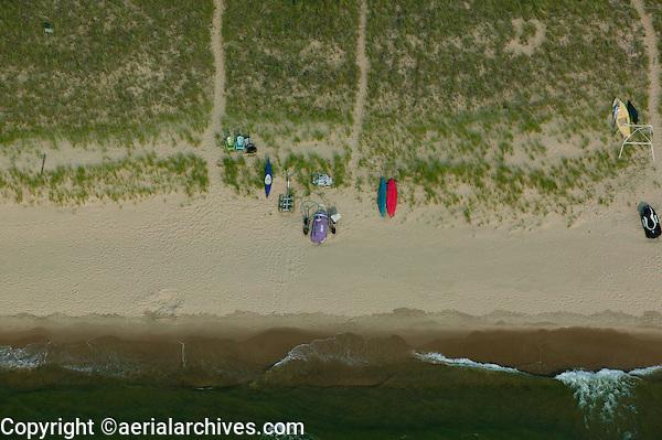 aerial photograph Michigan shoreline, Lake Michigan