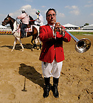 14 May 10: Sam the Bugler at Pimlico Race Course in Baltimore, Maryland on Black-Eyed Susan Day.